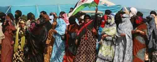 Imagen-Video: Mujeres saharauis bajo la represion marroqui en el Sahara Occidental