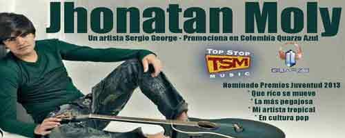 Imagen-Video: El cantante Jonathan Moly y su carita de cristal en colombia!