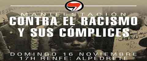 """Imagen-Madrid: Manifestacion Antifascista, """"Contra el racismo y sus complices"""""""